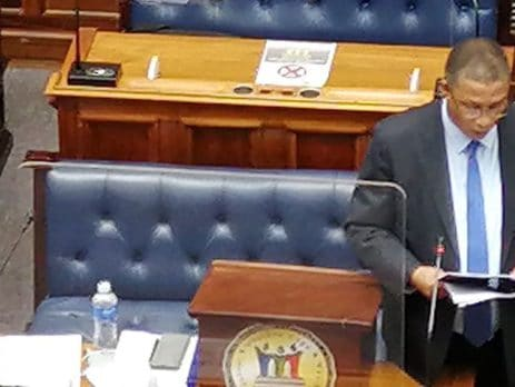 Minister Meyer delivering the Western Cape Agriculture Budget Address